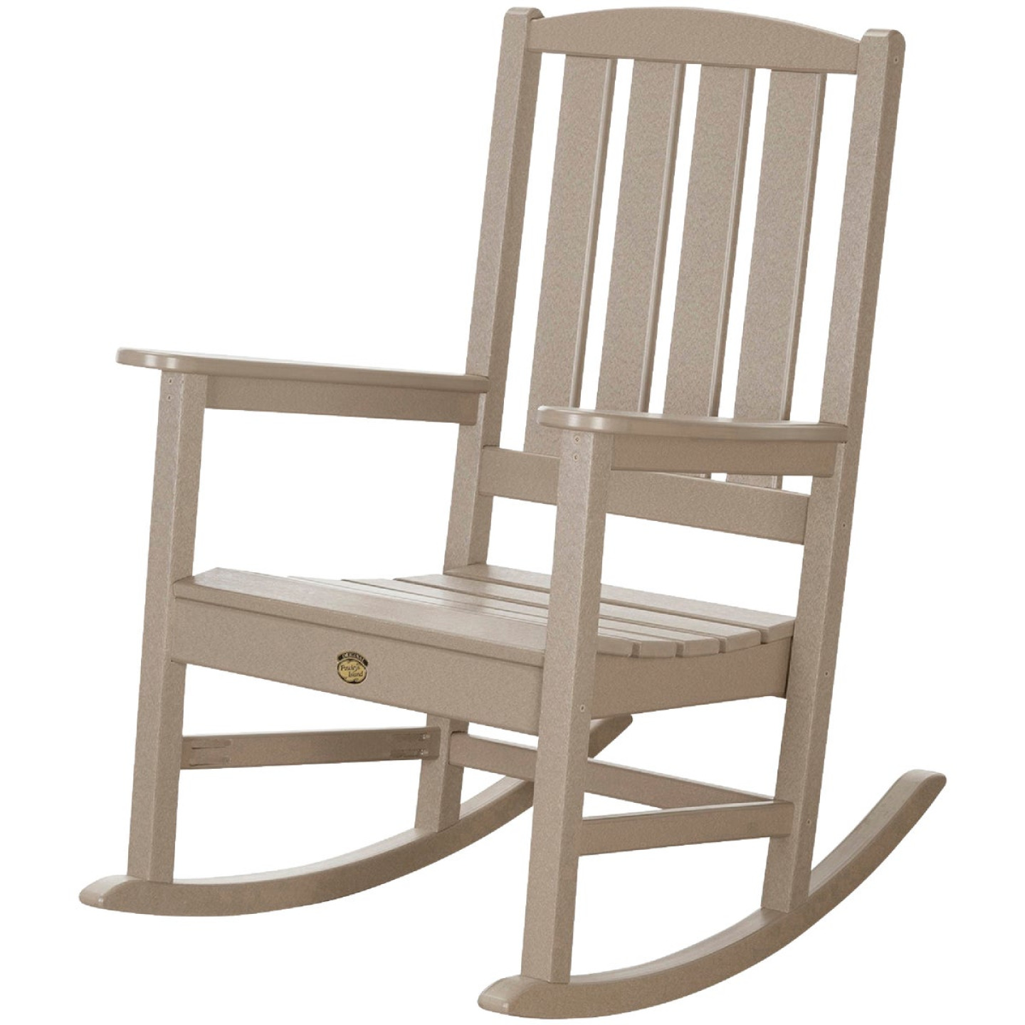 Pawley's Island Silver Line Tan Poly Porch Rocking Chair Image 1