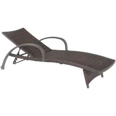 Pacific Casual Montego Bay Brown Steel Frame Chaise Lounge Chair (1-Pair)