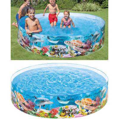 Intex 18 In. D. x 8 Ft. Dia. Polyethylene Deep Blue Sea Snapset Pool