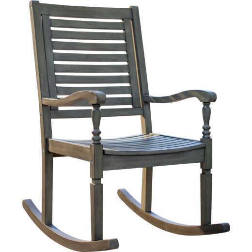 Leigh Country Sequoia Bayhouse Gray Acacia Wood Rocking Chair