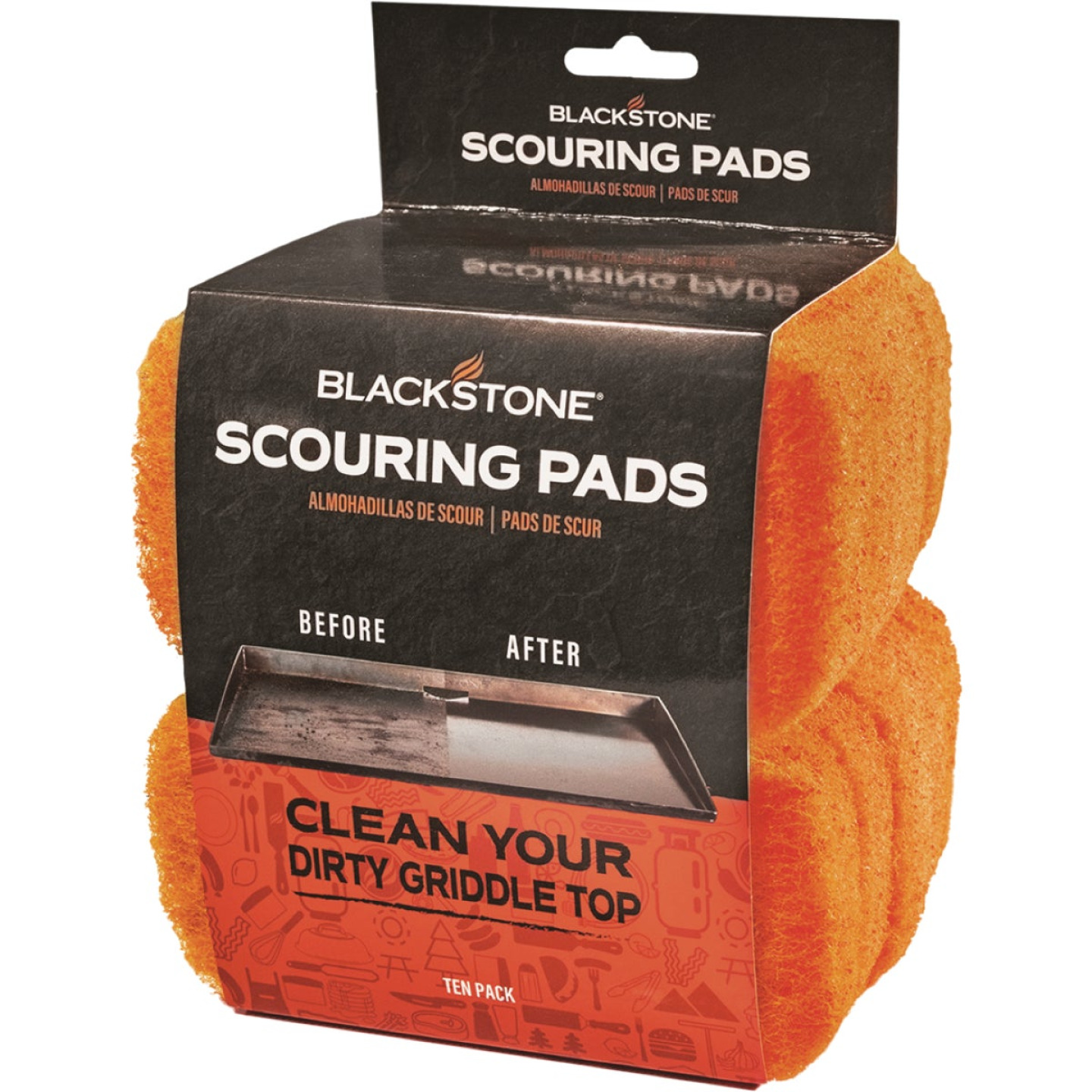 Blackstone 3 In. Nylon Fiber Griddle Cleaning Pad (10-Count) Image 1