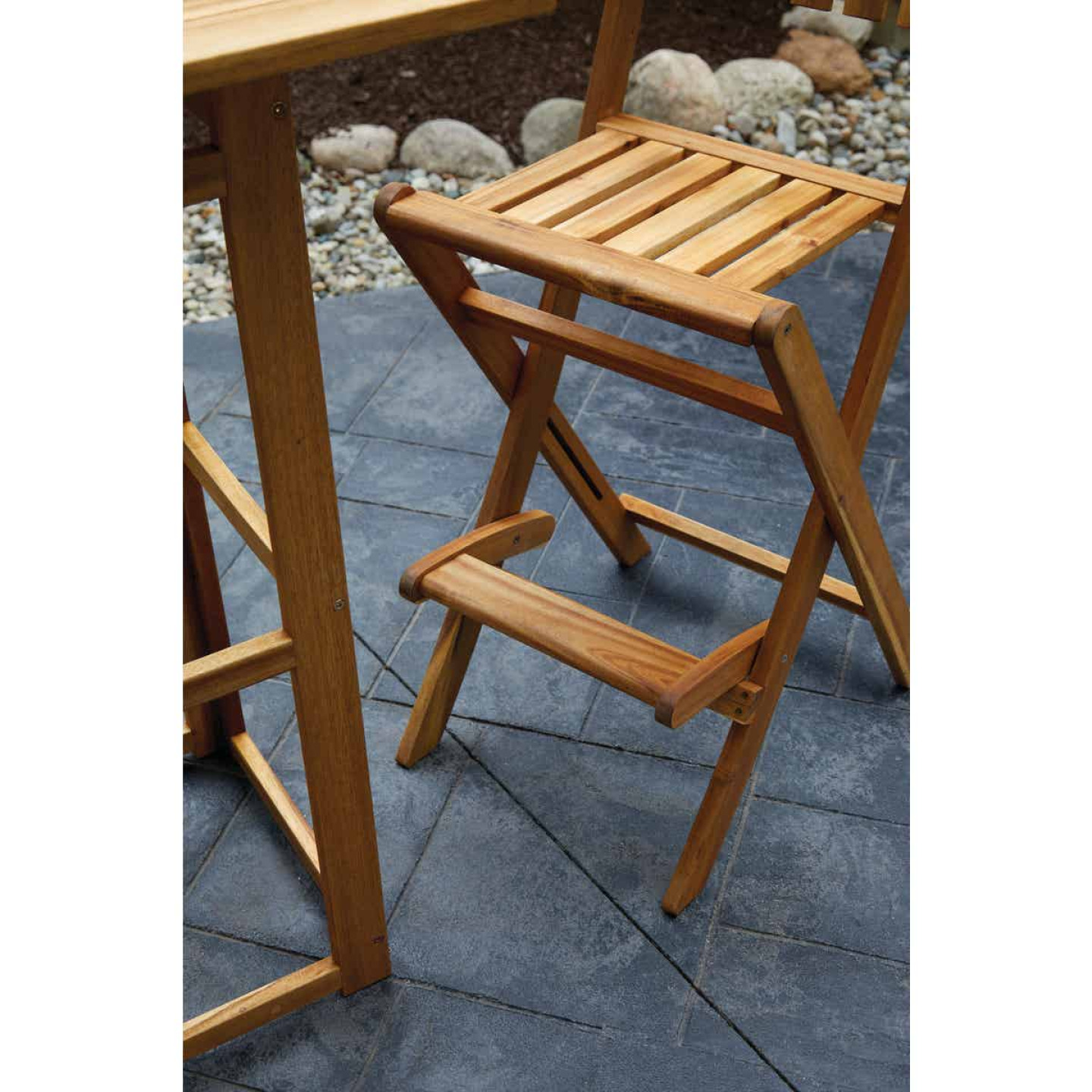 Outdoor Expressions 3-Piece Bar Height Bistro Set Image 5