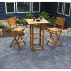 Outdoor Expressions 3-Piece Bar Height Bistro Set Image 2