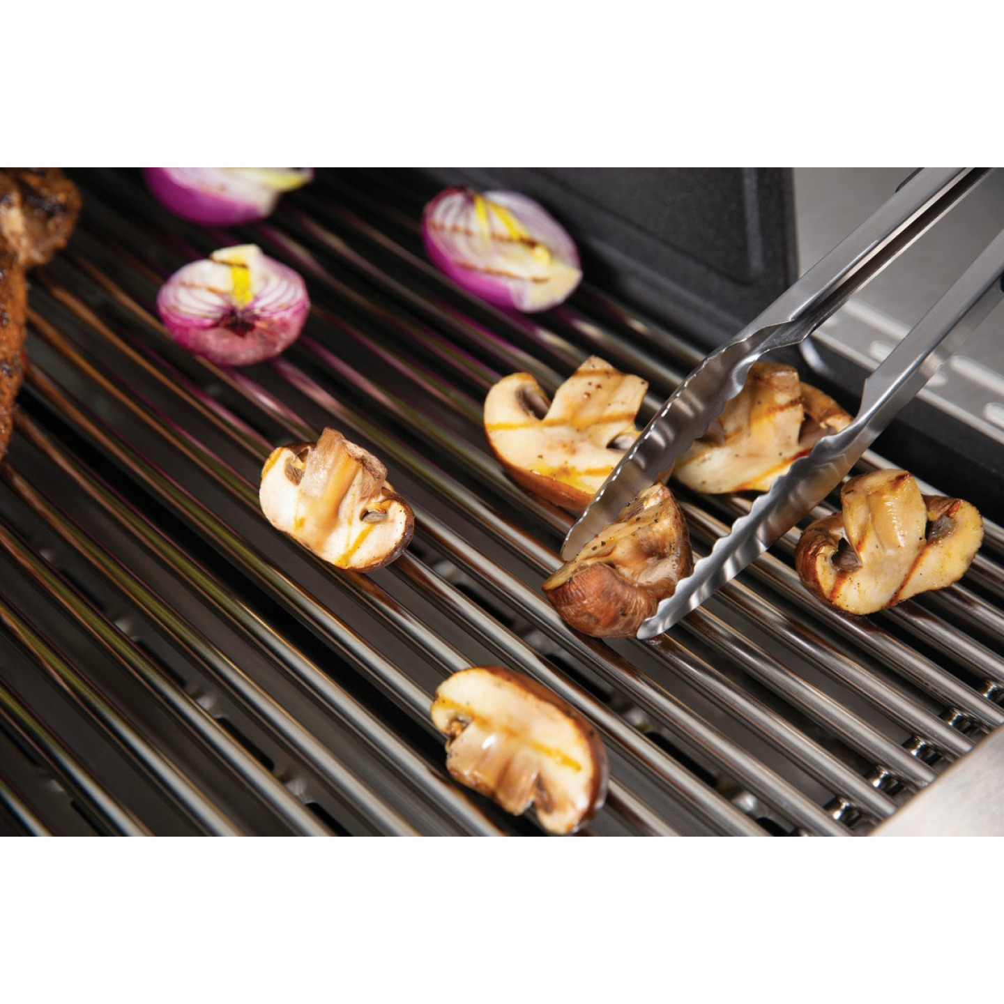 Broil King 13.69 In. Stainless Steel Soft Grip Barbeque Tongs Image 2