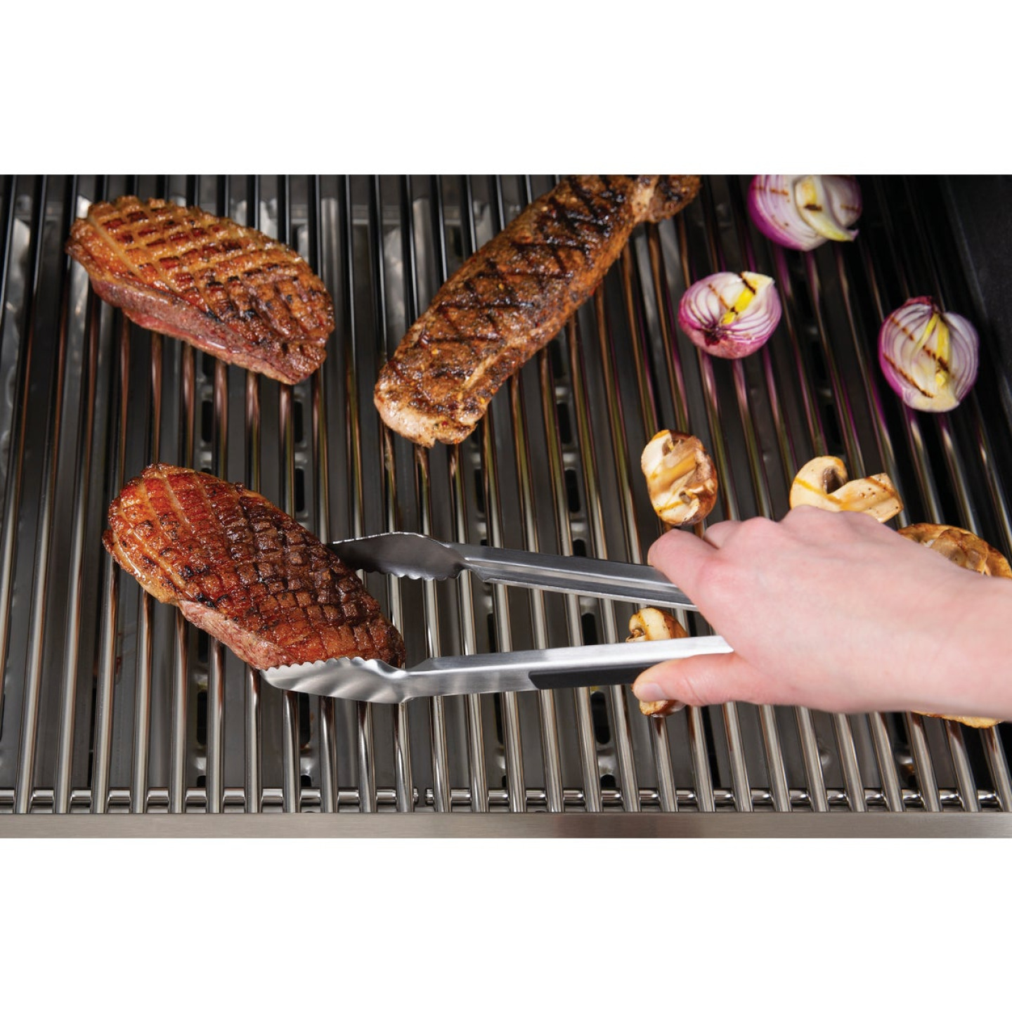 Broil King 13.69 In. Stainless Steel Soft Grip Barbeque Tongs Image 3