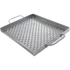 Broil King Imperial 15.5 In. W. x 13 In. L. Stainless Steel Flat Grill Topper Tray Image 1