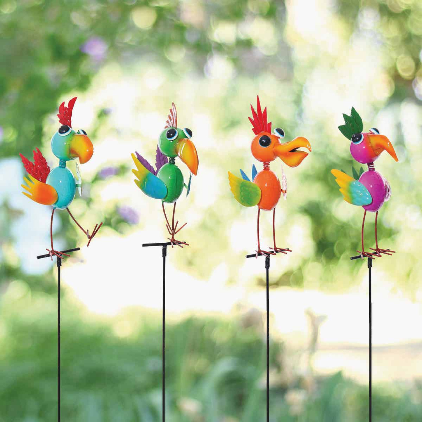 Alpine 35 In. Metal Bird Garden Stake Lawn Ornament Image 2