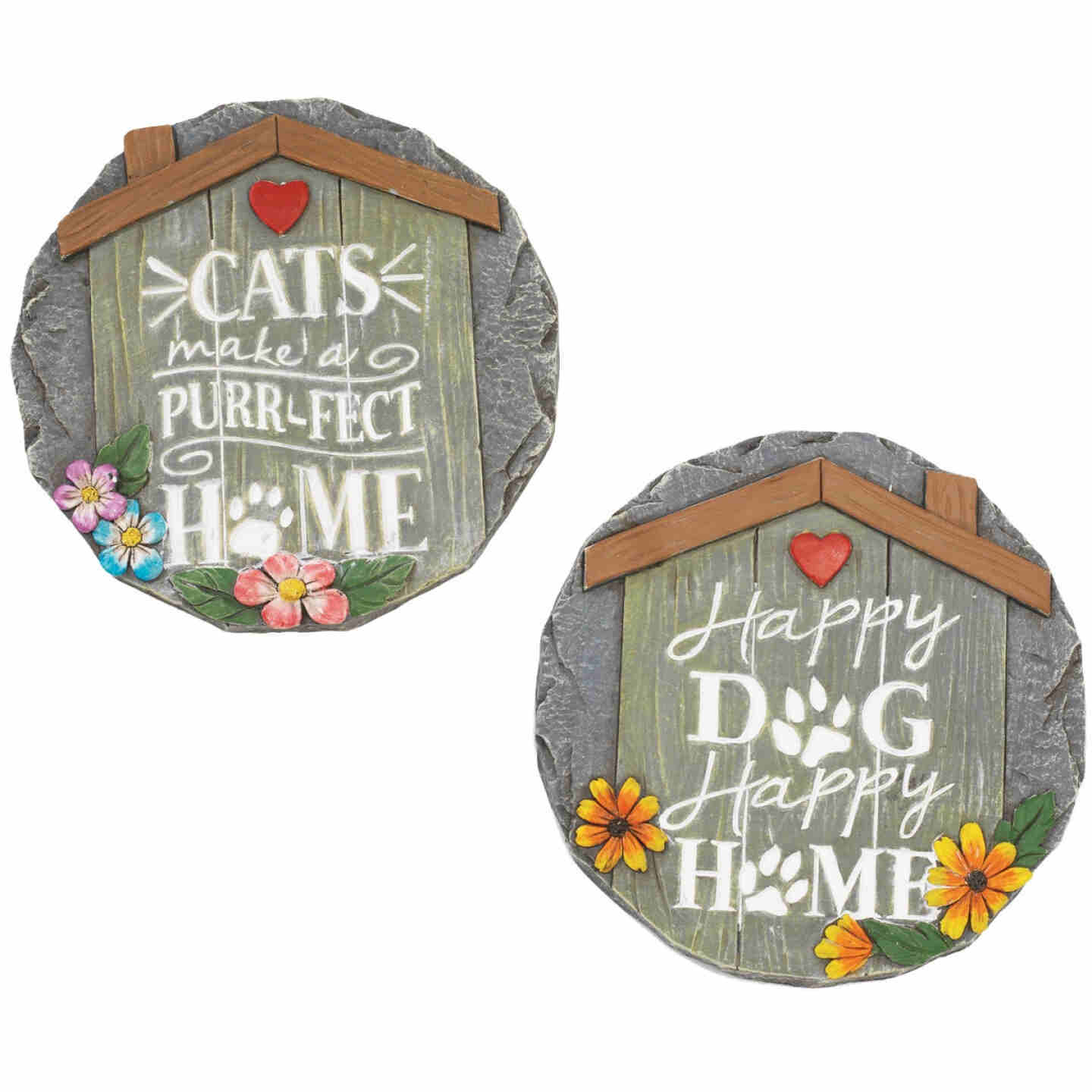 Mission Gallery 10 In. Cement Dog or Cat Stepping Stone Lawn Ornament Image 1