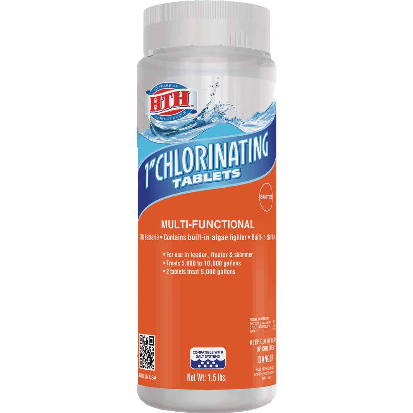 HTH 1.5 Lb. Chlorinating Tablets Image 1